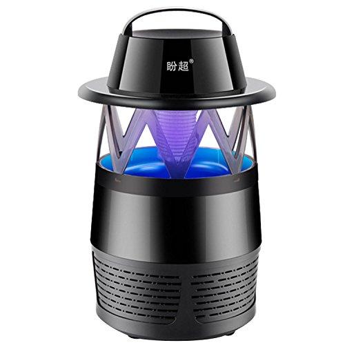 Gosear Atrapa Mosquitos, Safe LED Mosquitos eléctricos Trampa Asesino de Mosca Powered USB Zapper Plagas Noche Lámpara de Luz (Color Negro)