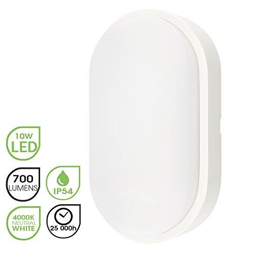 Chestele Außenbeleuchtung von Wänden 10W LED Aussenleuchte, 4000K, 700lm, IP54-geschützt Wasserdicht Wandlampe, Weiß