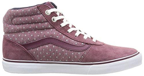 Vans - W Milton Hi Suede, Sneaker Donna Rosso (Suede/Wine/Gray)