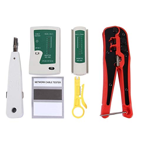 Kabel & Zubehör 4 in 1 Tragbare Crimp Stripper Punch Down Drahtlinie Detektor Ethernet Netzwerkkabel Tester Tools Kits -