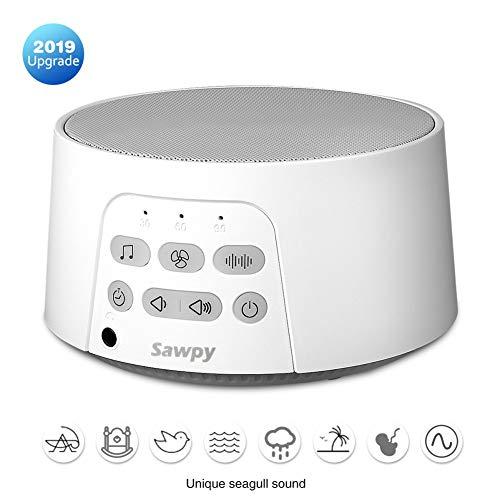 Sawpy Portable White Noise Machine Macchina del Rumore Bianco, 24 suoni hi-fi, uso sostenibile fino a 12 ore, per casa, ufficio e viaggio, adatto a tutti, alimentato tramite USB