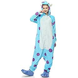 Molly Kigurumi Pijamas Traje Disfraz Animal Adulto Animal Pyjamas Cosplay Homewear S Azul Blanco