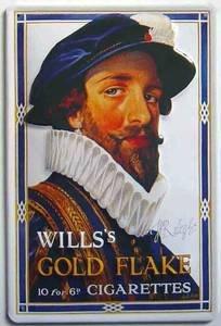 wills-gold-flake-walter-raleigh-gepragt-stahl-schild
