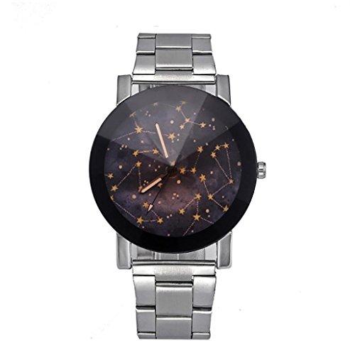 Preisvergleich Produktbild Dragon868 Herren / Damen-Uhr Edelstahl Sport Quarz Stunde Handgelenk analoge Uhr (A)