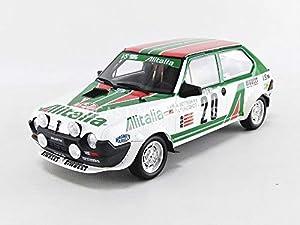 Otto Mobile OT294 - Coche en Miniatura de colección, Color Blanco, Verde y Rojo