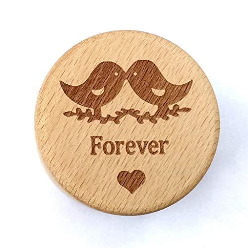 BINGHONG3 BingongongG3 Personalisierte rustikale Hochzeitsring-Box aus Holz für Schmuck und Schmuckstücke, Aufbewahrungsbehälter für Ringe 2
