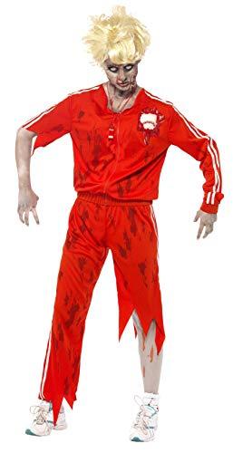 Smiffys, Damen Zombie-Sportlehrer Kostüm, Oberteil mit Latex Baseball, Hose und Pfeife, Größe: L, 38885 (Zombie Baseball Kostüm)
