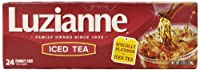 Luzianne Iced Tea, Family Quart Tea Bags, 24-Count Boxes (Pack of 12)