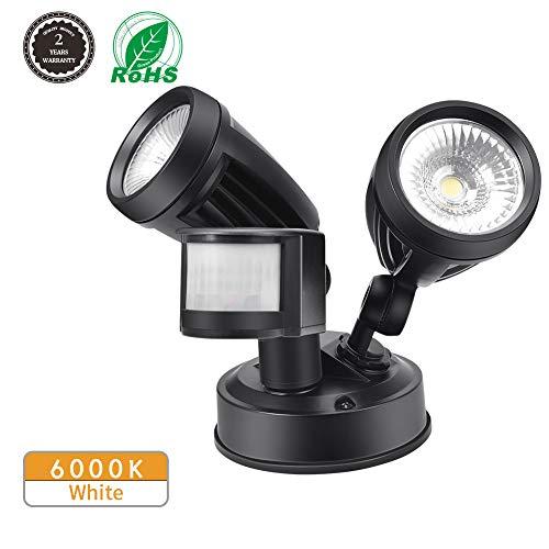 Foco LED con Sensor de Movimiento, Comaie 2 bombillas LED de Sensor...