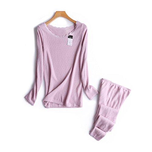 LLPXCC Thermounterwäsche Atmungsaktiv Damen Bekleidung Außenhandel Boutique Cashmere fühlen Soja Pulver XL (Soja-pulver)