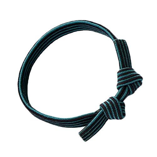 10pcs Bow Femmes Elastics Simple Cravates cheveux Sangles verts porteurs Ponytai