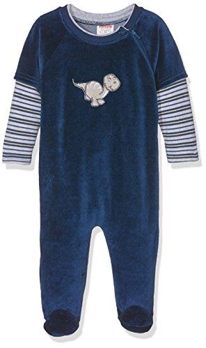 Schnizler Nicki Schlafoverall Dino, Oeko-Tex Standard 100, Pijama para Bebés, Azul (Marine 11), 74
