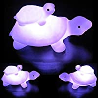 Momangel Colorful LED Child Mother Tortoise Flashing Night Light Kids Room Living Room Kids Room College Dorm Coffee Table Bookcase