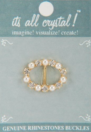vision-trims-genuine-rhinestone-buckle-35mm-oval-gold-pearl-by-vision-trims