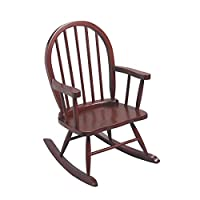 ‏‪Gi'Mark Children's Windsor Rocking Chair in Cherry Color‬‏