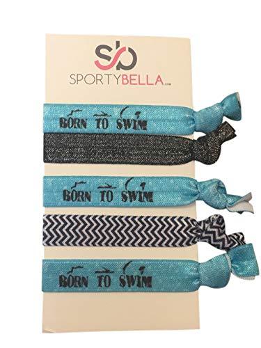 Schwimmen Haar, Mädchen Schwimmen Accessoires Swim Jewelry–perfekte Geschenk für Schwimmer (Schwimmer Krawatte)