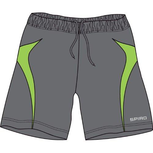Spiro Micro-Lite Short de l'équipe Gris - Grey/Lime