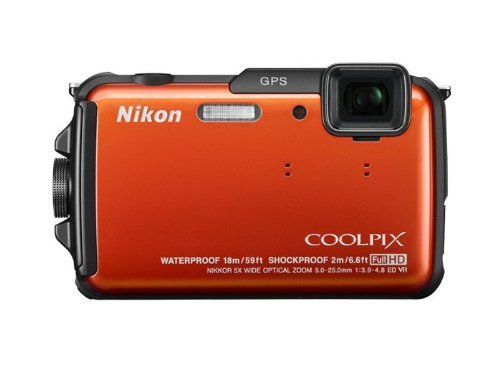 Coolpix AW110 Adventure Kit (16 Megapixel Digitalkamera mit 5-fach opt. Zoom, Eva Case, Bike Mount, 2012 Chest MountKit) orange