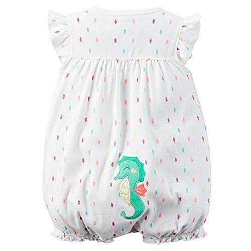 Carters Jumpsuit (Carter's Sommer 56/62 Spieler mit Po Motiv Seepferdchen US Size 3 Month Onesie Mädchen Girl Jumpsuit)