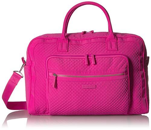 Vera Bradley Damen Iconic Weekender Travel Bag, Microfiber Wochenendtasche, Rose Petal, Einheitsgröße - Vera Bradley Rosa
