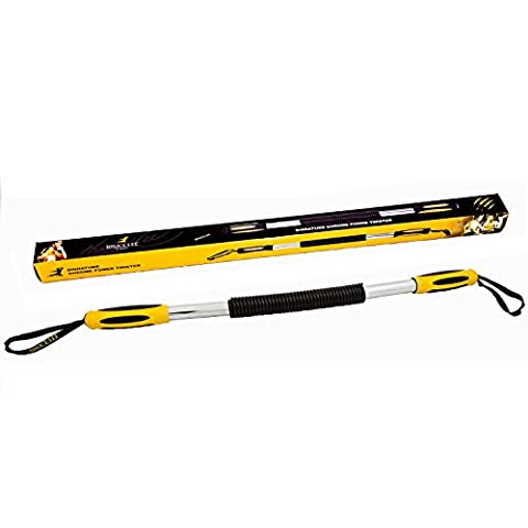 Marcy Bruce Lee Signature Chrome Power Twister - Yellow/Black/Silver, One Size