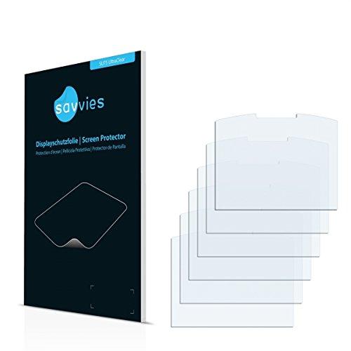 6x Savvies SU75 UltraClear Bildschirmschutz Schutzfolie Emporia Talk Comfort (Kristallklar, Blasenfreie Montage, Passgenauer Zuschnitt)