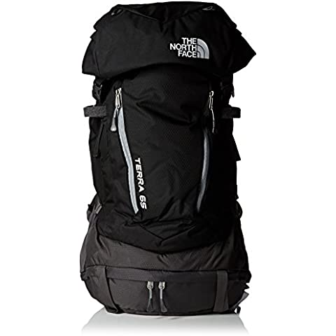 North Face Terra 65 - Mochila, color negro / gris, talla LXL