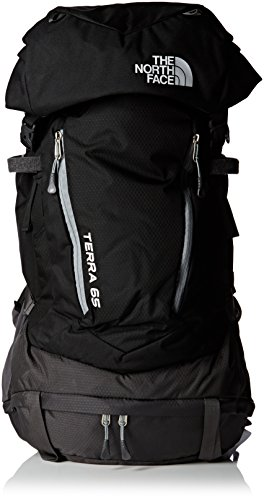 The North Face Erwachsene Rucksack Terra 65, Tnf Black/Asphalt Grey, 27.5 x 16 x 49 cm, 64 Liter, 0706421944687