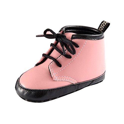 Saingace Bébé Garçons Filles Automne Hiver Martin Bottes Bébé Chaussures (13cm(12-18mois), Jaune) Rose