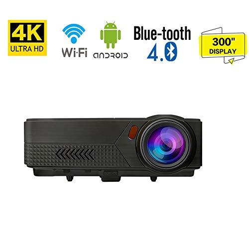 Beamer, Mini Beamer Full HD 19,000 Lumens, Projektor Tragbar Videoprojektor 1920 * 1080P unterstützt 4K Multimedia LED 50000 Stunden Heimkino und Fußball Spiel Spaß Kompatibel mit HDMI/VGA/USB/AV