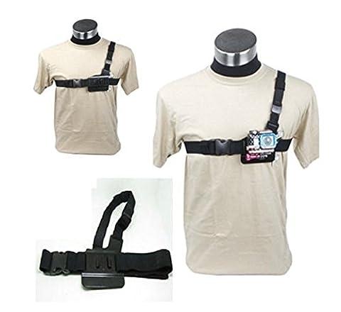 GOPRO Go Pro Hero de rechange accessoires, Homme Fille Enfant femme, 3 points chest belt