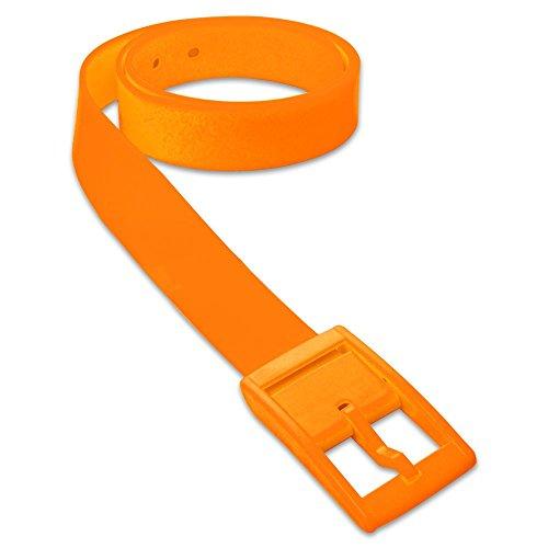 SoulCats 1 St Trendiger Gürtel aus Silikon in vielen Farben Unisex neon gelb orange pink blau, Farbe:orange