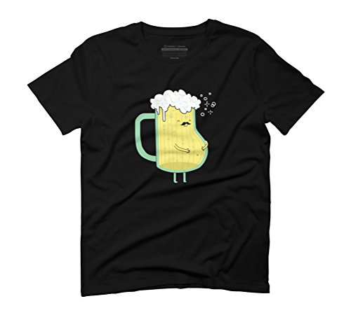Beer tshirt Men's Graphic T-Shirt - Design By Humans Black