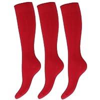 Kids/Children Unisex Knee High School Socks (Pack Of 3)