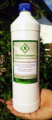 GrünerGarten® Naturdünger - Bewährter Bio-Dünger und ökologischer Schädlingsbekämpfer für alle Pflanzen. Aus frischen Brennnesseln. 100% ökologischer Bio-Dünger (1000 ml Brennesseljauche) -