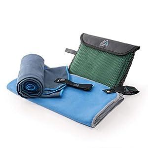 MNT10 Mikrofaser Handtuch mit Tasche I leicht & kompakt, dünn & schnelltrocknend I Premium Reisehandtuch in…