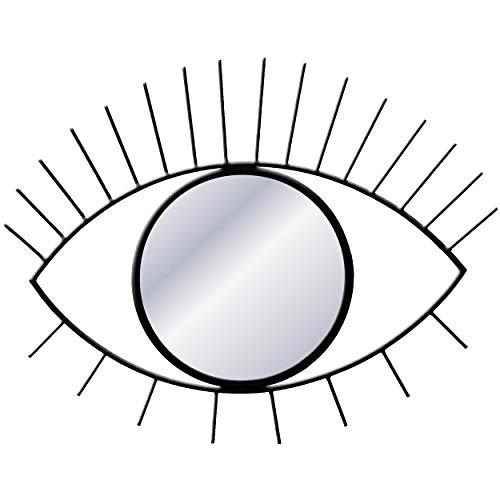 Carrick Design Espejo de Pared de Metal con diseño de Ojo
