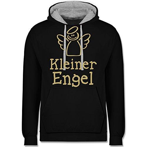Typisch Frauen - Kleiner Engel - Kontrast Hoodie Schwarz/Grau Meliert