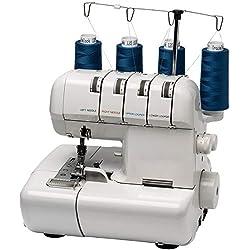 MEDION MD14302 Machine à Coudre Surjeteuse, Coque Plastique, mécanique en métal, Blanc, 32 x 28 x 32 cm