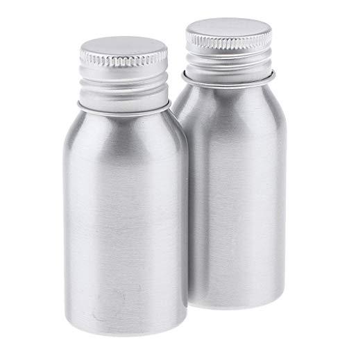 Homyl 2pcs 40 ml Bouteille de Crème Echantillons en Aluminium Flacon de Shampooing pour Poudre Huiles Essentielles pour Avion Voyage
