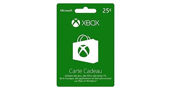 Carte Cadeau Bresil Xbox.Carte Xbox Live De 25 Eur Amazon Fr Jeux Video