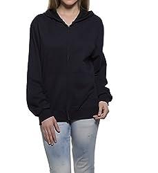 Clifton Womens Sweat Shirt With Hood-Navy-3XL