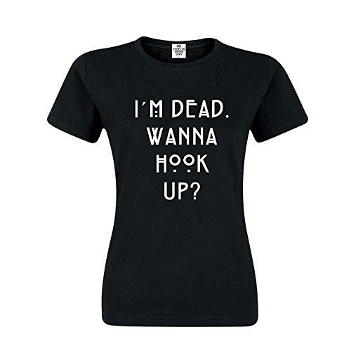 American Horror Story Wanna Hook Up Damen T-Shirt Schwarz, Größe:XS
