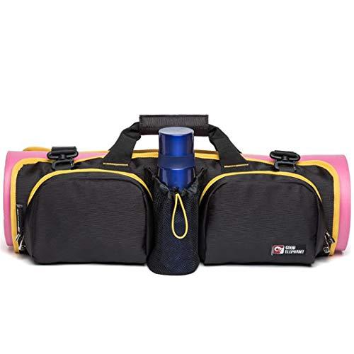 SPOROWJD Große Kapazität Frauen Yoga Taschen Yogamatte Lagerung Tragbare Schultertasche Damen Sporttaschen Yellow Trim