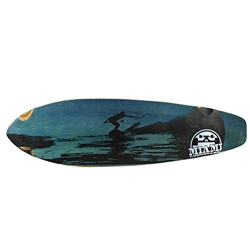 Deck Landyachtz (Miami Longboard Deck Kicktail Surf Blau 24,8x 92,7cm)