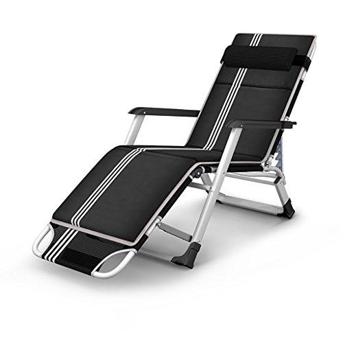 ZCJB Sommer Cool Stühle Klappstuhl Liegestuhl Klapp Mittagspause Stuhl Erwachsene Lounge Stuhl Haushalt Rückenlehne Stuhl Lode Lager 200 Kg Mit Kissen (Farbe : Style1)