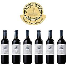 CHATEAU LA TOUR CORDOUAN - 2015 - 6 bouteilles - Vin Rouge AOP Medoc Bordeaux - 6 bottles Pack - Gold Medal in Brussels 2018