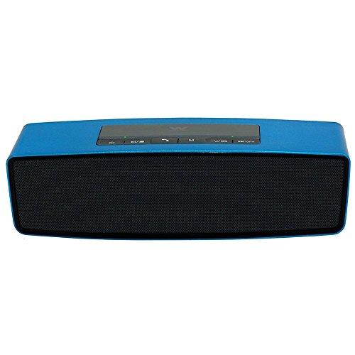 Woxter Big Bass BT-10 - Altavoz portátil con radio FM, lector de tarjetas, puerto USB y entrada AUX, color azul