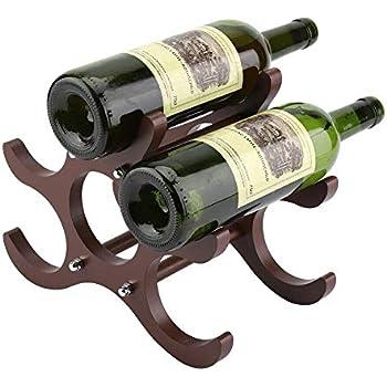 Rangement Casier Vin en Support pour de à Yulie 6 Bois OXPZuki