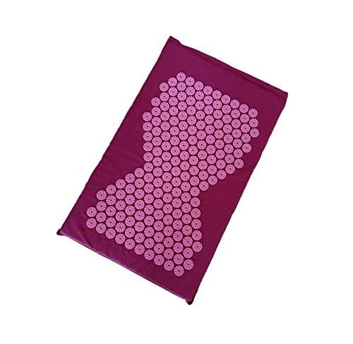 JING Original Akupressurmatte Für Rücken- / Nackenschmerzen Und Ischias Muskelentspannung - Akupunktur - Erholung Nach Dem Sport,Purple - Ischias Relief